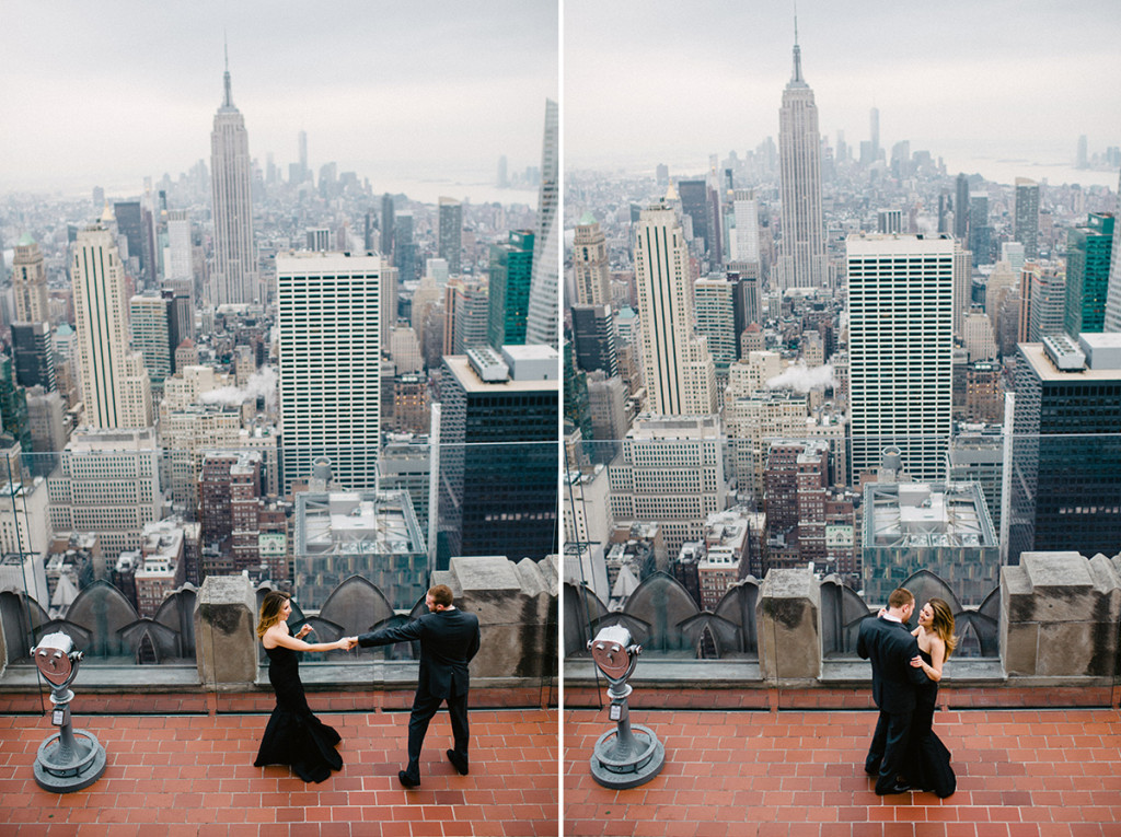 Tatyana fred are engaged top of the rock nyc for The best of nyc