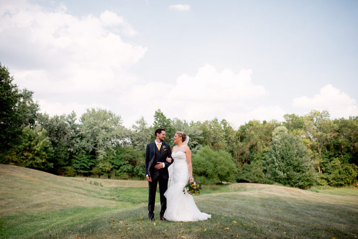 rustic honey funny sunny PA wedding