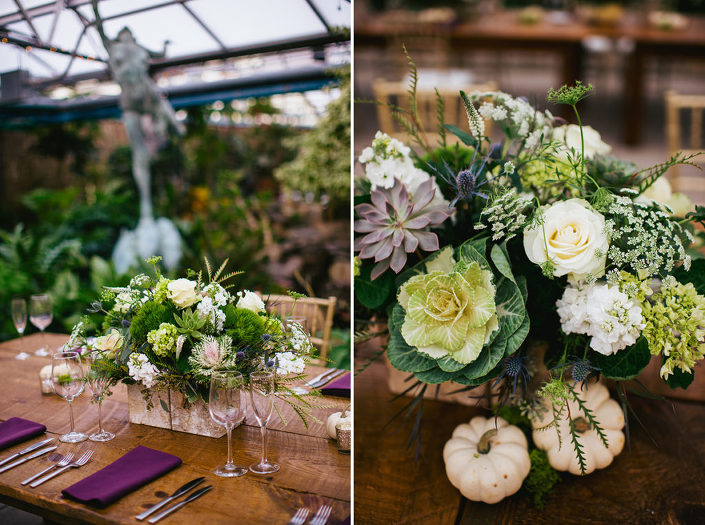 Fall Botanical Greenhouse Wedding Horticulture Center Fairmount Park Philadelphia