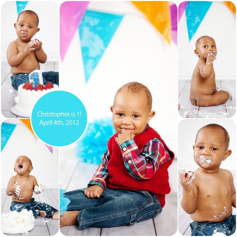 1st year birthday shoot with Jessica Hendrix Photography