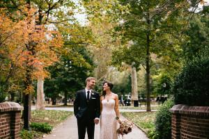 vintage gold fall wedding