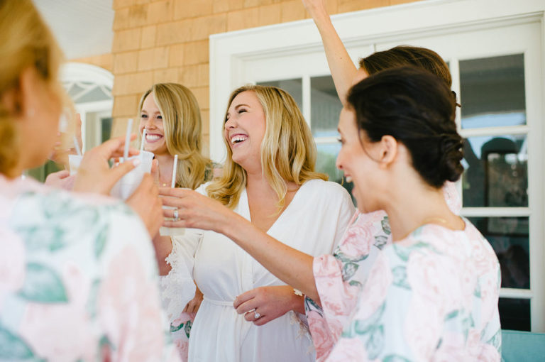 Bay Head Yacht Club New Jersey Wedding Bridesmaids Champagne Toast © Jessica Hendrix Photography 2016