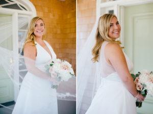 Bay Head Yacht Club New Jersey Wedding Illusion neck wedding gown ©Jessica Hendrix Photography 2016
