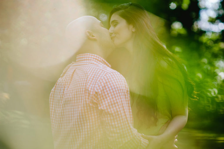 hazy summer love engagement session