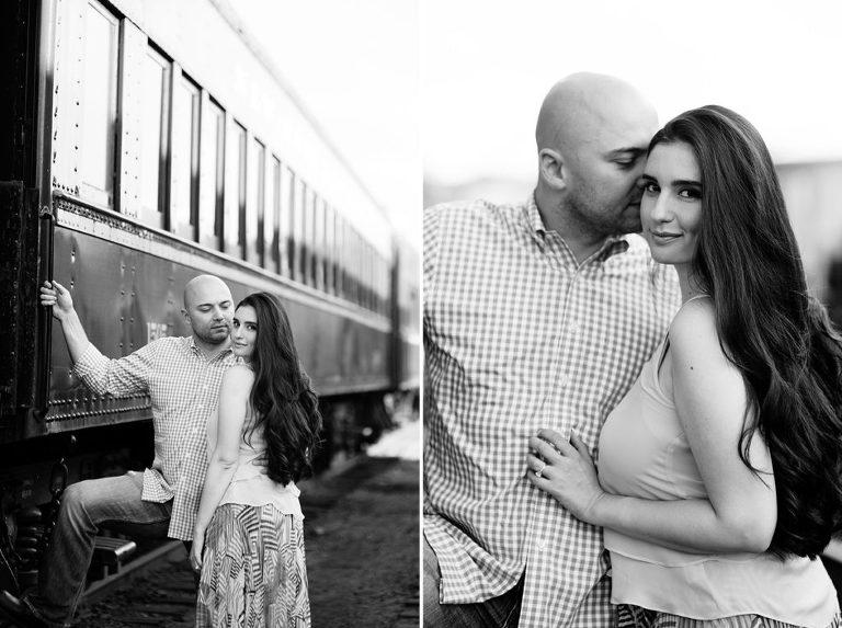 new jersey train engagement session